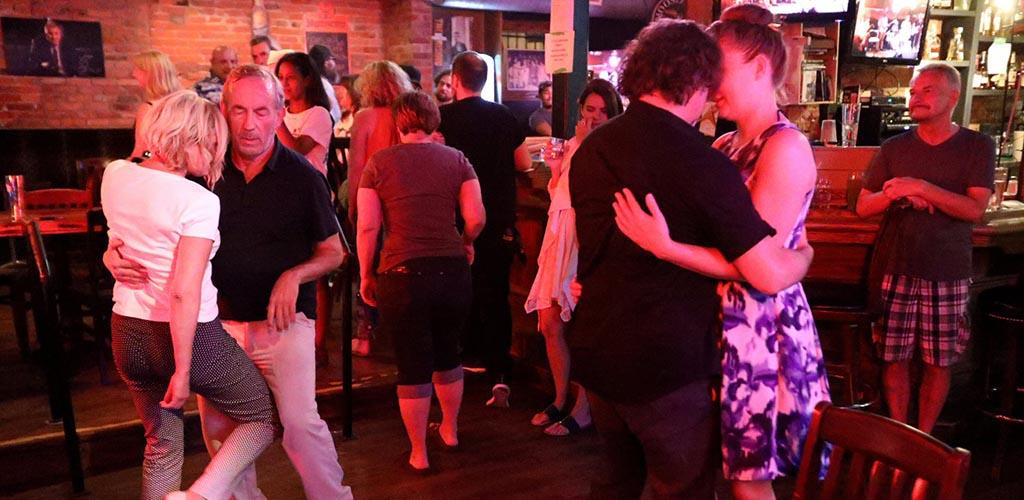 Couples dancing at Cadillac Lounge