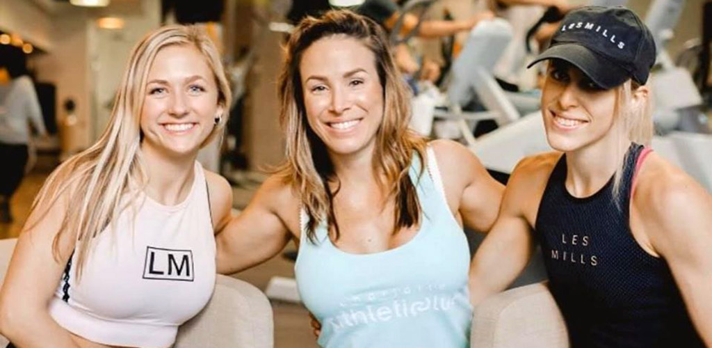 Women after a workout at the Charlotte Athletic Club