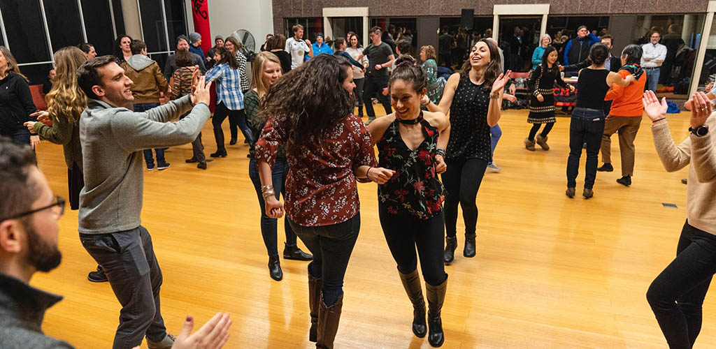 Cougars in Massachusetts learning how to dance at Club Passim