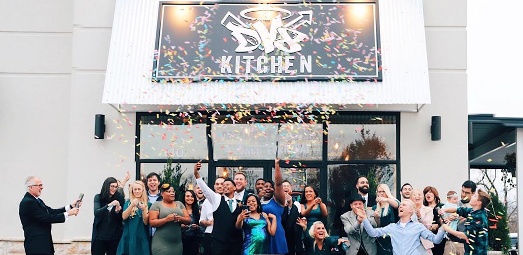A party at the DV8 Kitchen
