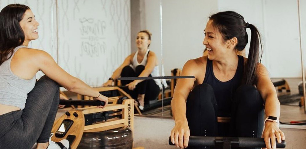 Mature women working out at Hive Fit