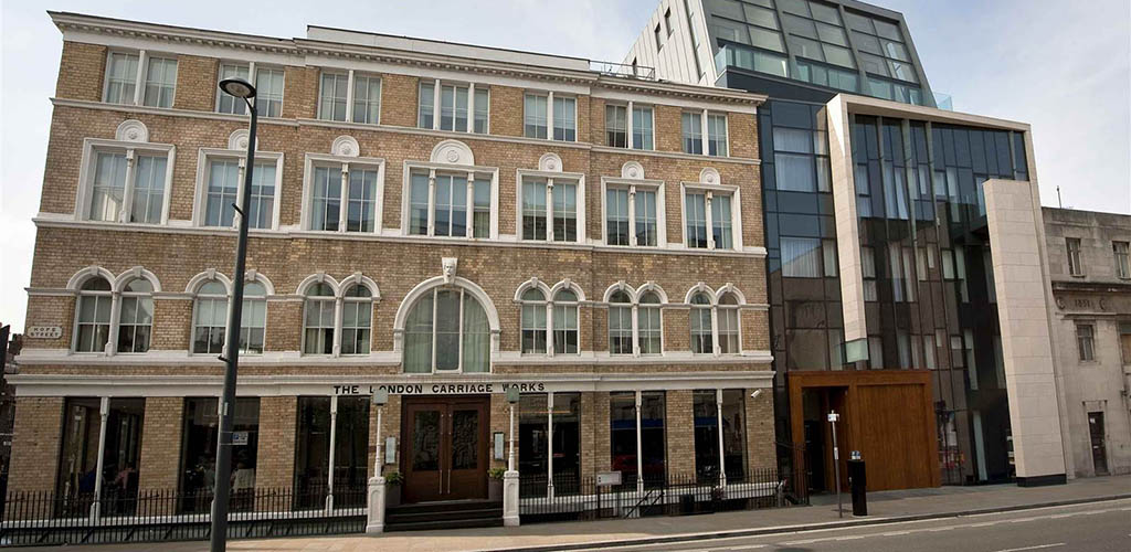 Exterior of The London Carriage Works at Hope Street Hotel