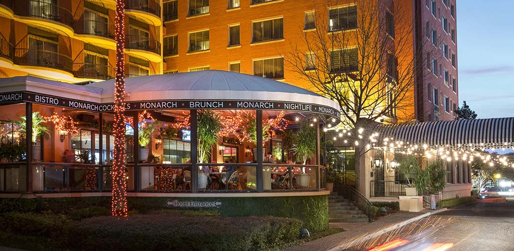 Monarch Restaurant & Lounge at sundown
