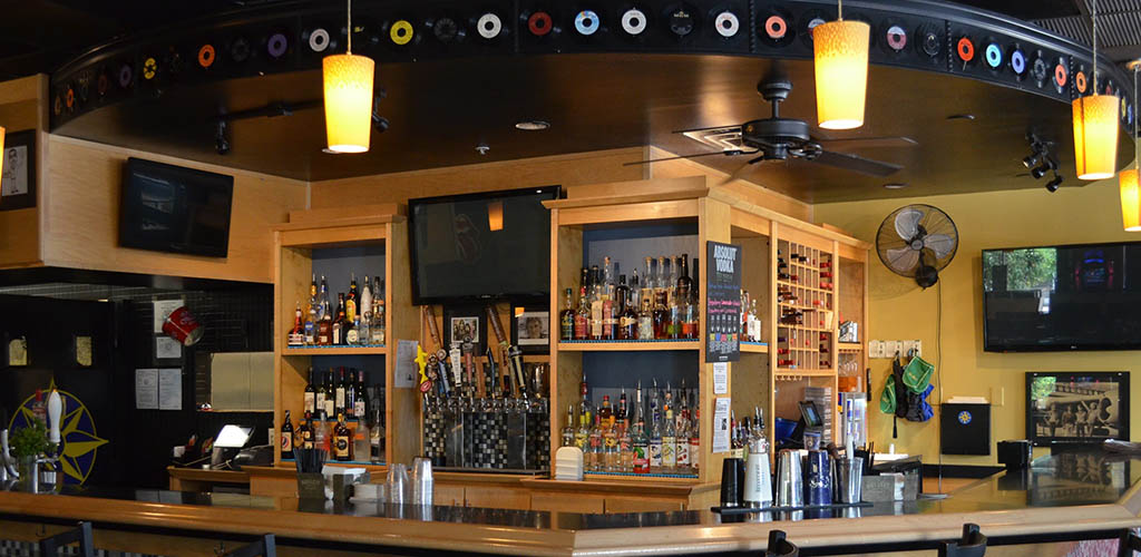 The bar at Latitudes Bistro