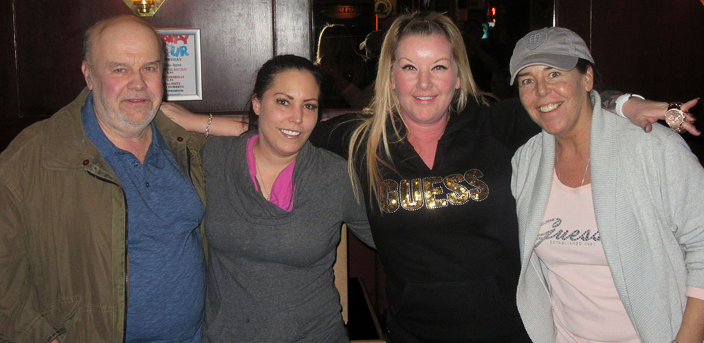 Friends on a night out at Lighthouse Pub