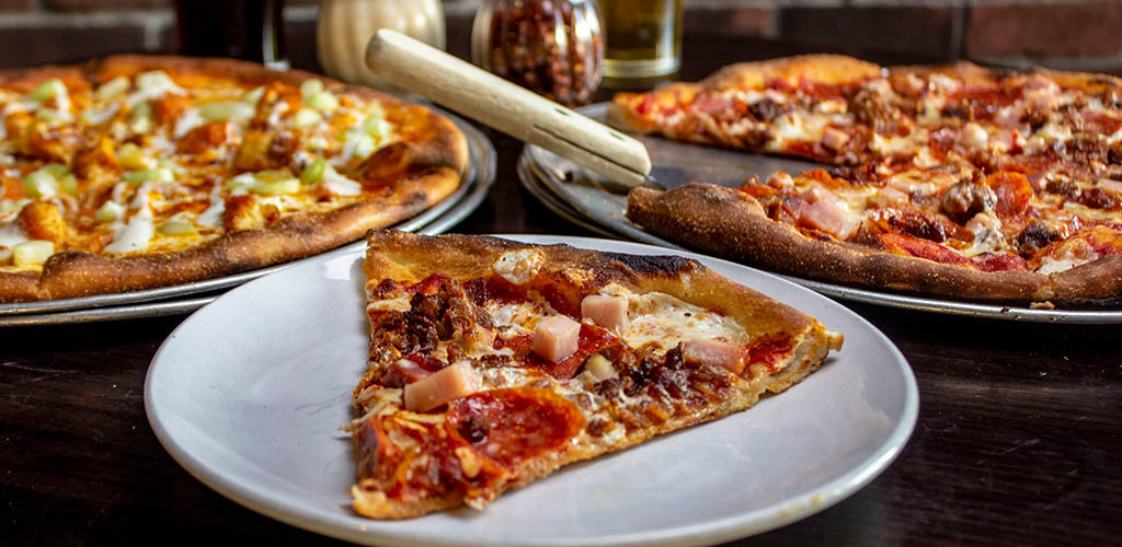Pizzas from Midland Brew House