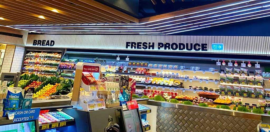 The produce area of Romeo's Organic Wholefoods