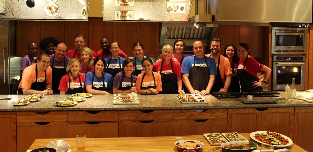 A fun cooking class at Southern Season Cooking School