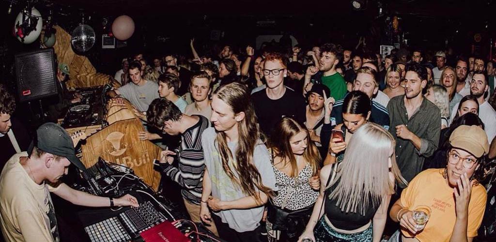 The crowded dance floor of Sugar Club