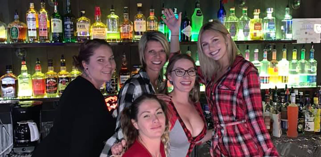 Women out for drinks at the Sundowner Saloon