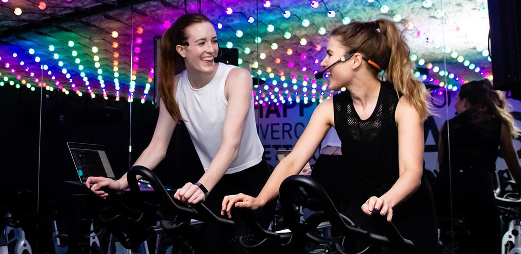 Calgary MILFs in a class at YYC Cycle Spin