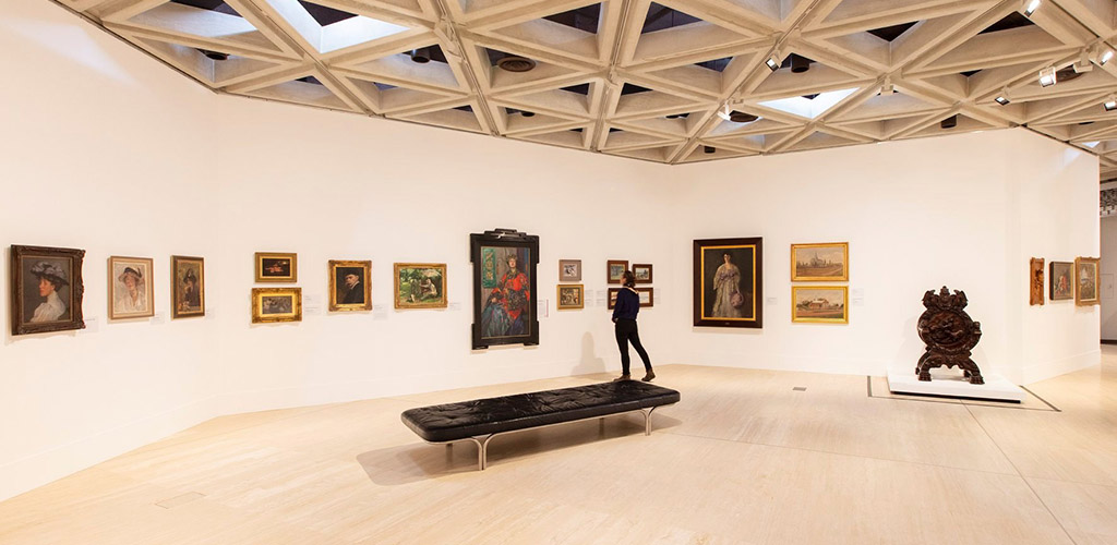 The spacious display area of Art Gallery of Western Austalia