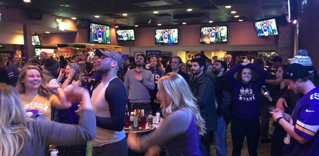 People watching the game at Bunny's Bar and Grill