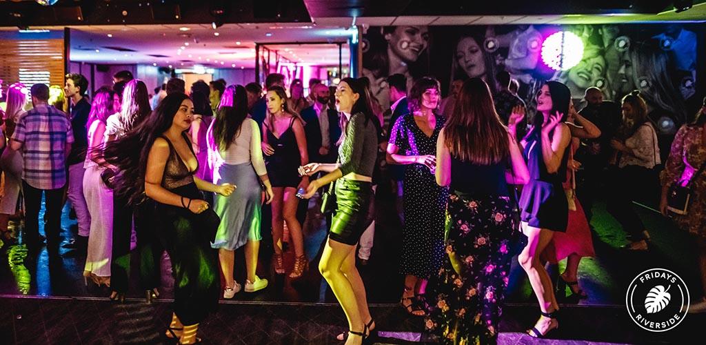 The dance floor of Friday's