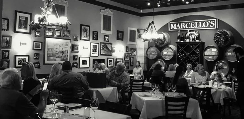 The dining area of Marcello's Wine Market Cafe