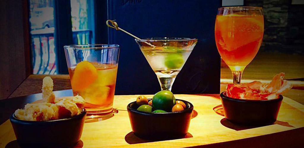 Cocktails and snacks from Purnell's Bistro and Ginger's Bar