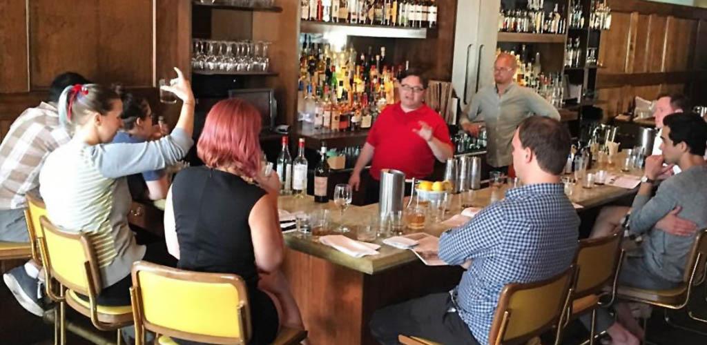 The full bar at Bouligny Tavern