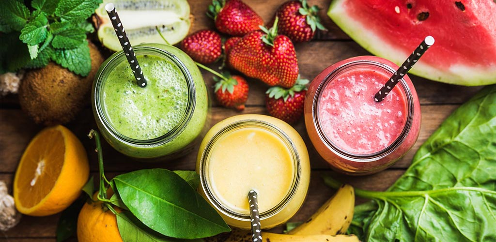 Fresh smoothies from All Good Things Organic Cafe