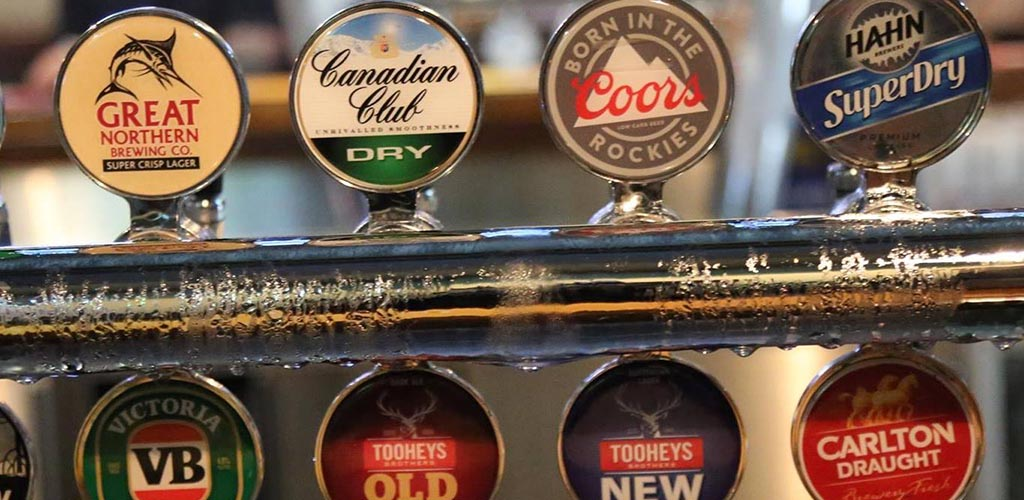 Beers on tap at Chevron Tavern