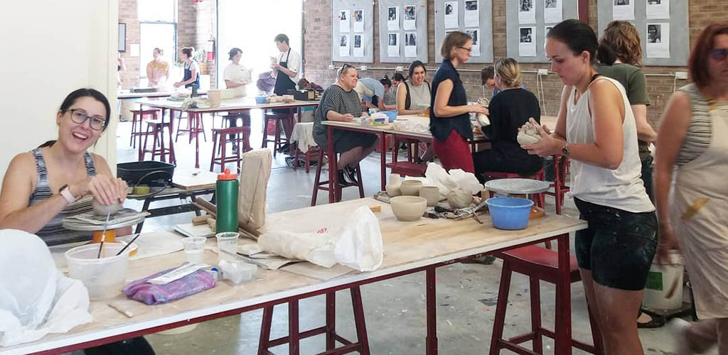A pottery class with Perth MILFs at Claymake Studio