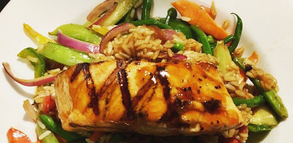 Salmon teriyaki from The Elbow Room