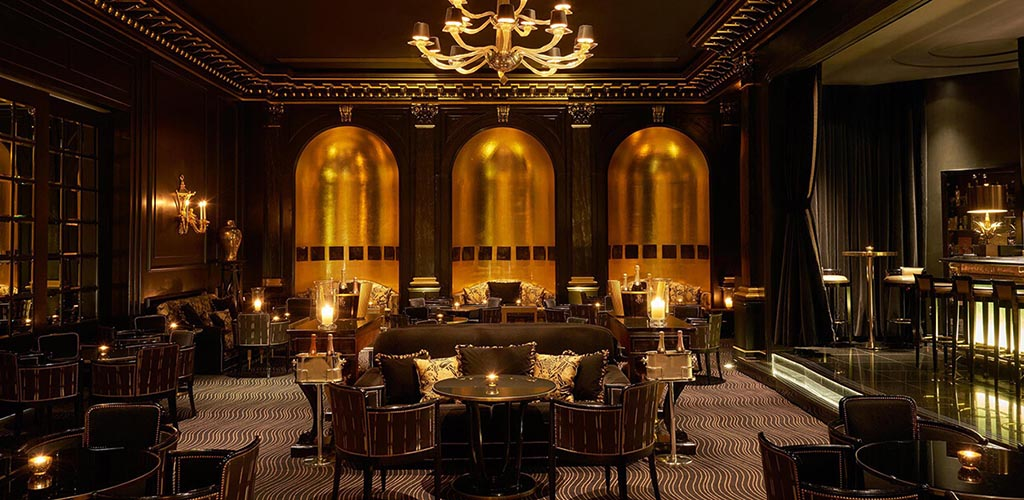 The opulent interior of Beaufort Bar at Fairmont