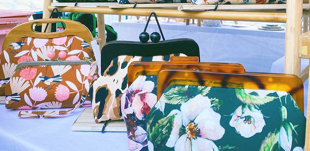 Adorable purses for sale at the Foragers Market