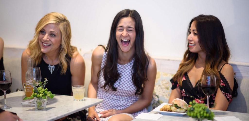 Beautiful mature women enjoying lunch at Nourish
