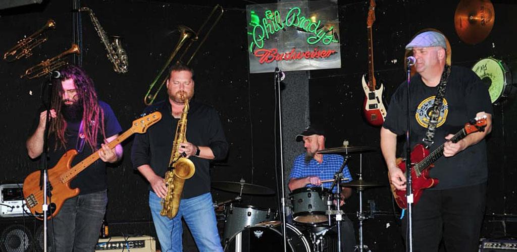 A band performing at Phil Brady's Bar