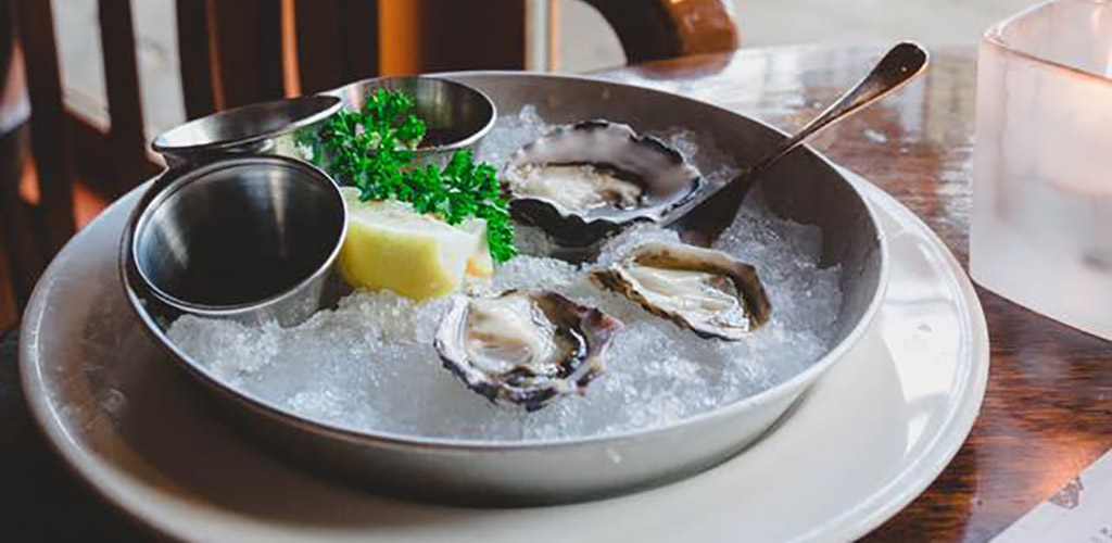 Fresh oysters from Sand Bar Restaurant