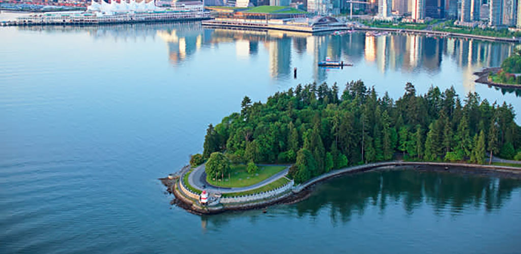 Aerial view of Stanley Park