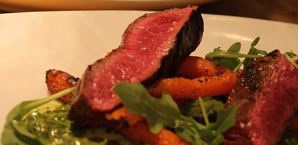 A rare steak from BOKX 109 American Prime