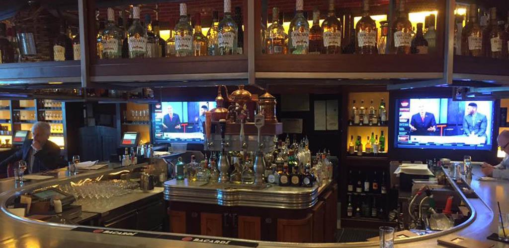 The bar area of RumBa hotel bar
