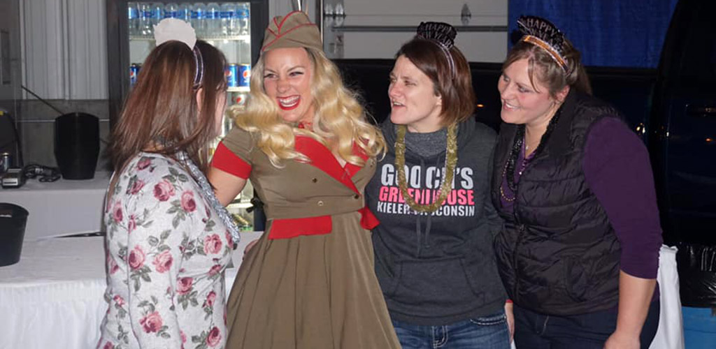 A woman in costume during an event at Front Street Brew