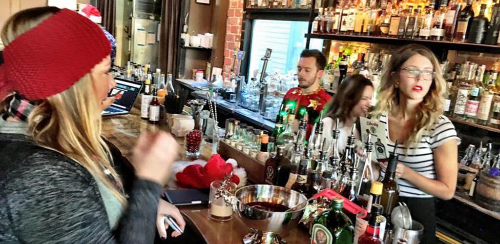 Washington MILFs ordering drinks at Liberty