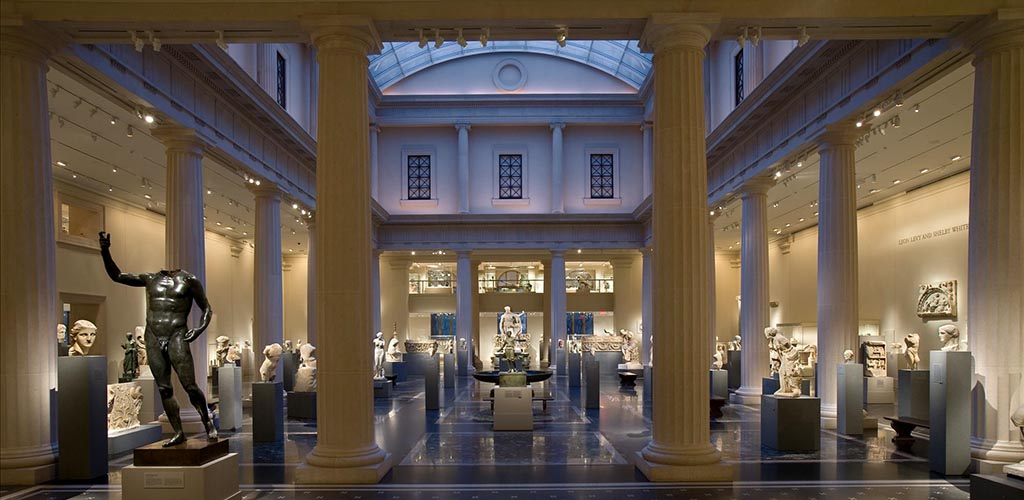 The sculpture hall at the Metropolitan Museum of Art