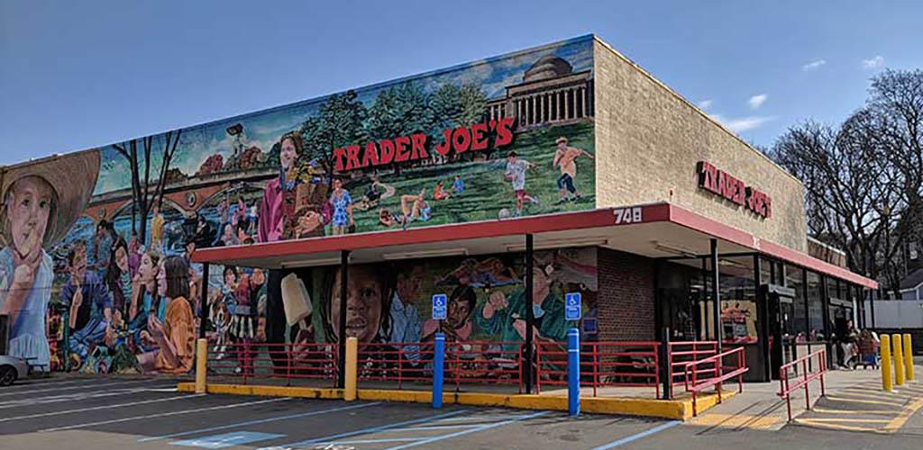 The mural at Trader Joe's