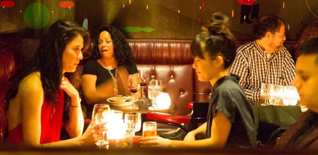 Friends having dinner at Vito's
