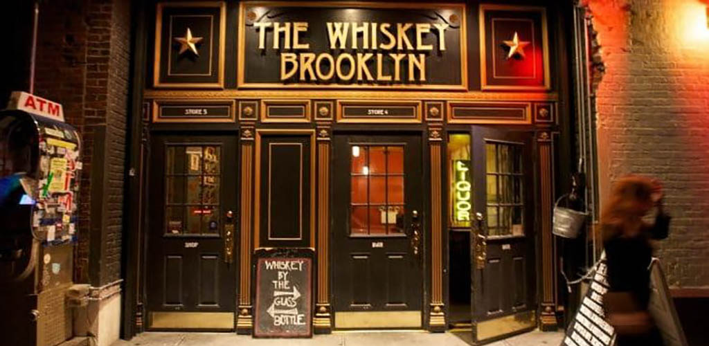 The front door of The Whiskey Brooklyn