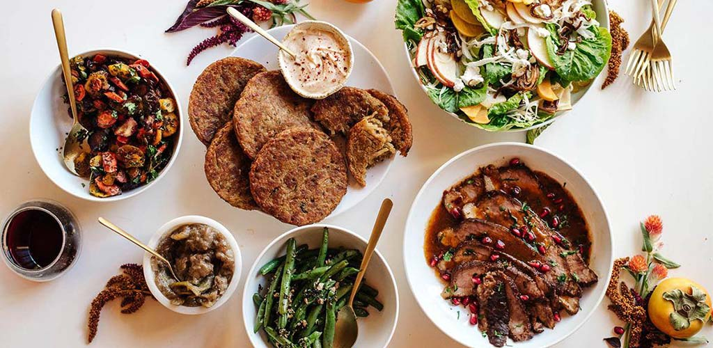 Various delicious dishes from Whole Foods