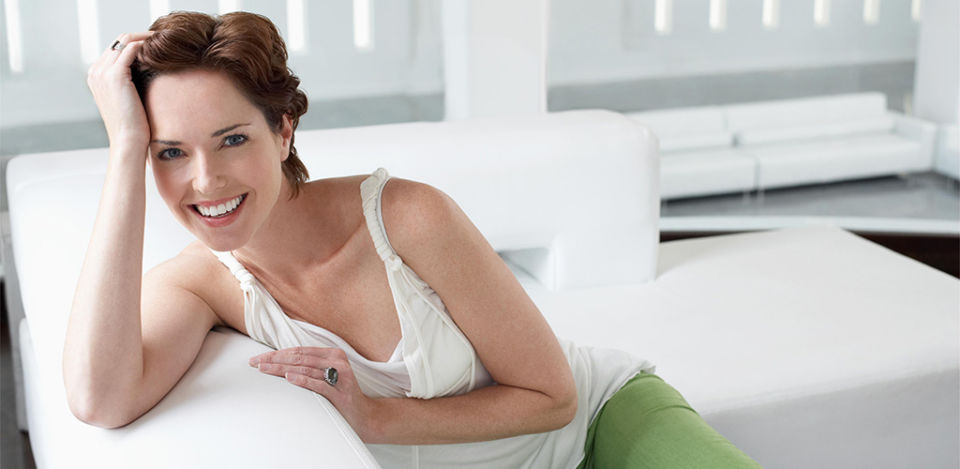 Red headed Irish MILF on a couch