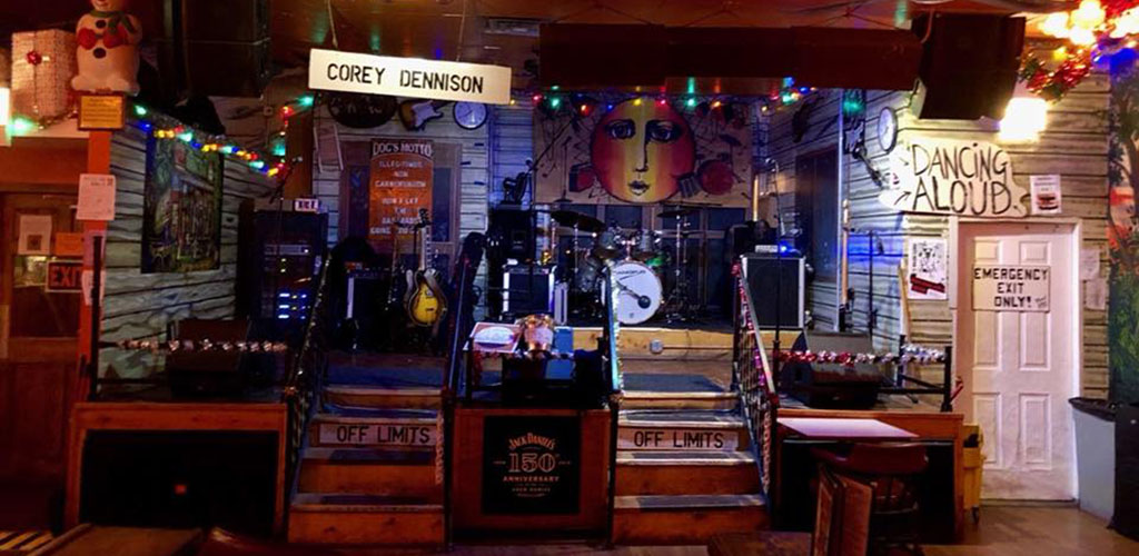 The stage at Kingston Mines