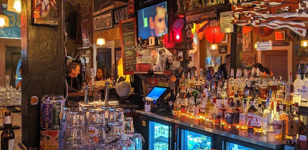 The bar at Parkside