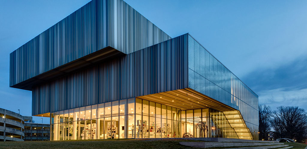 The beautiful exterior of the Speed Art Museum