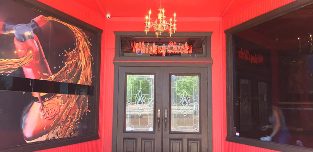 The entrance to Whiskey Chicks