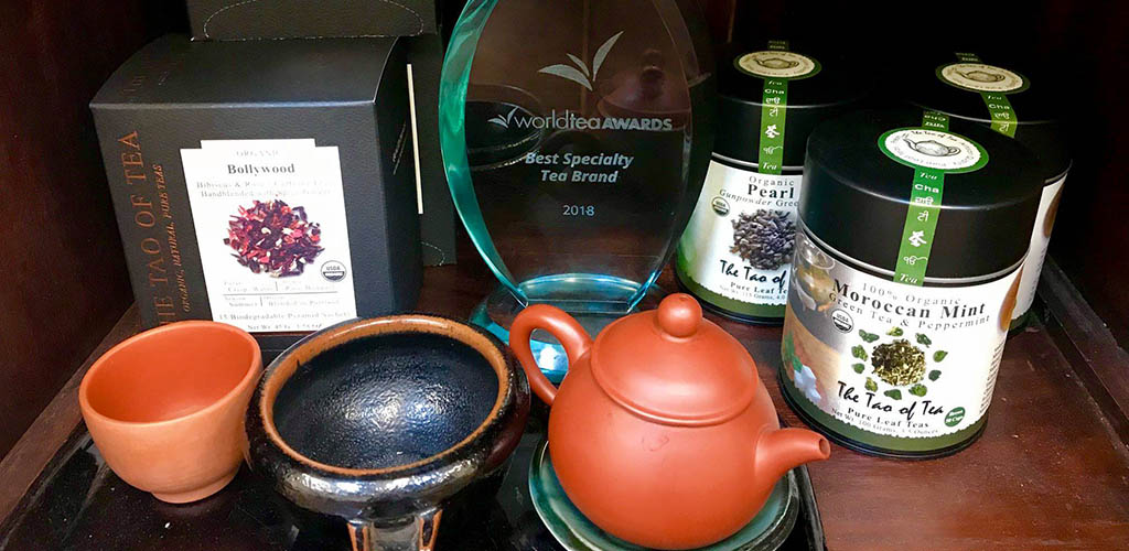 A tea set and some tea from The Tao of Tea