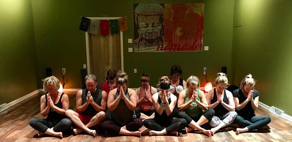A yoga class at Broad Street Yoga