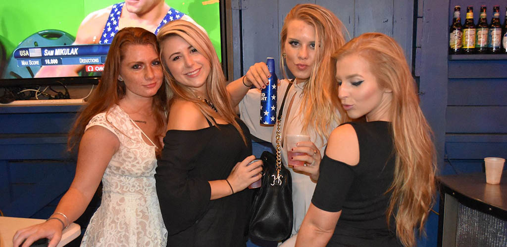 Well-dressed ladies at Dive Bar Buckhead