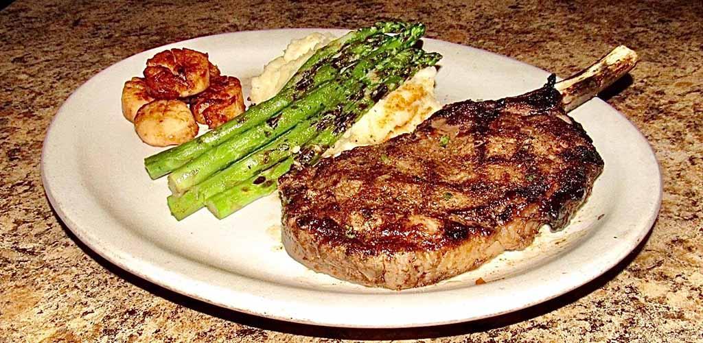 Steak, mash and asparagus from Tara Humata