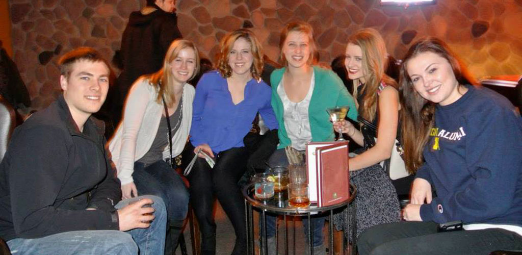 Beautiful women with a male friend at Babs' Underground Lounge